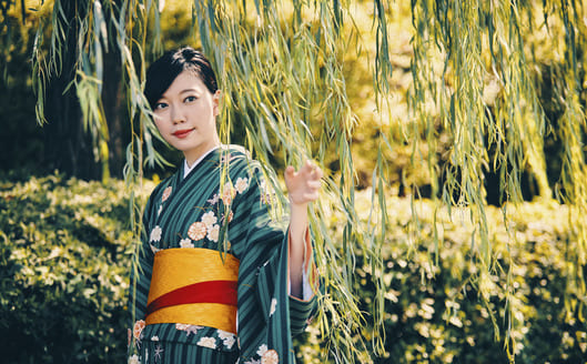 Wearing Kimono and upload on Instagram