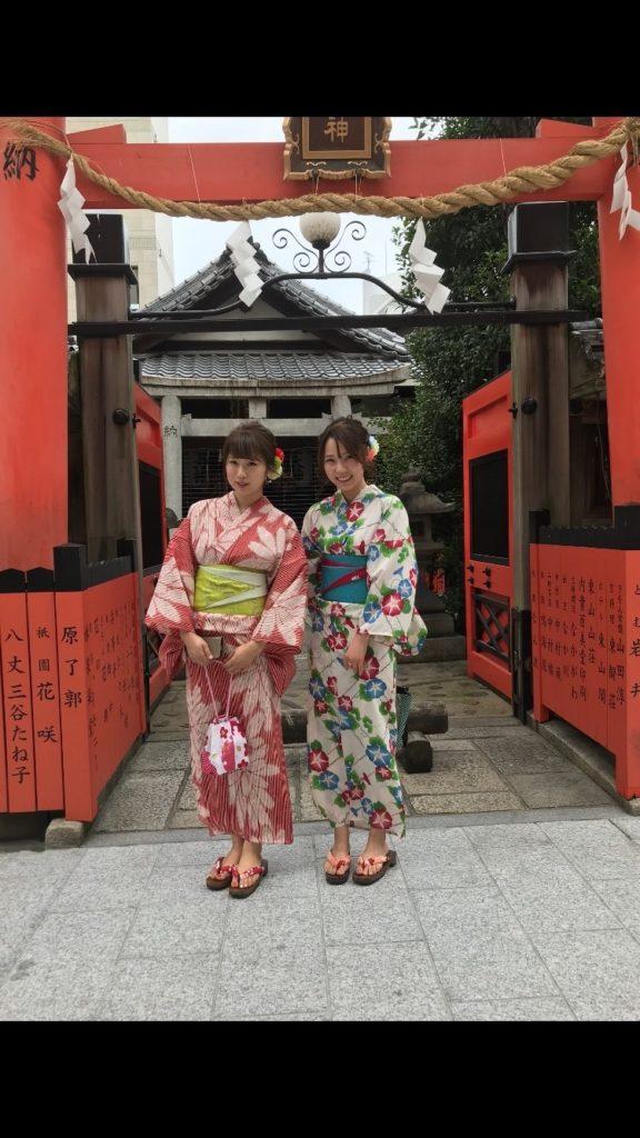 京都の祇園で浴衣レンタル