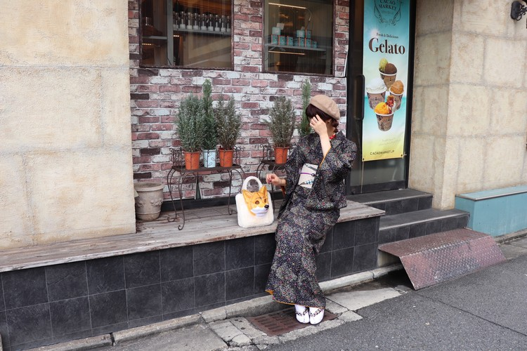 京都で着物レンタルをして河原町観光